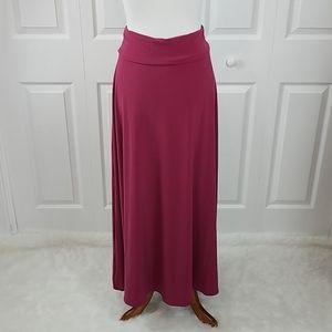 Lularoe Dark Pink Skirt XS Fuchsia Long Maxi